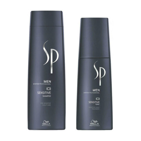 Wella System Professional Men Kit Sensitive Shampoo 250ml   Sensitive Tonic 125ml