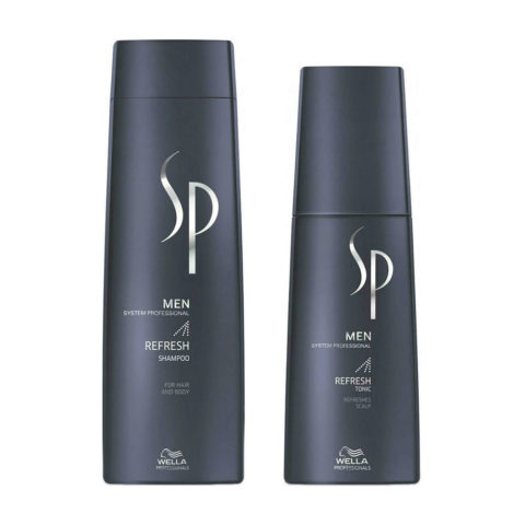 Wella System Professional Men Kit Refresh Shampoo 250ml  Refresh Tonic 125ml