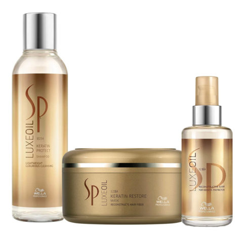 Wella SP Luxe Oil Keratine shampoo 200ml mask 150ml Elixir Luxe Oil 100ml