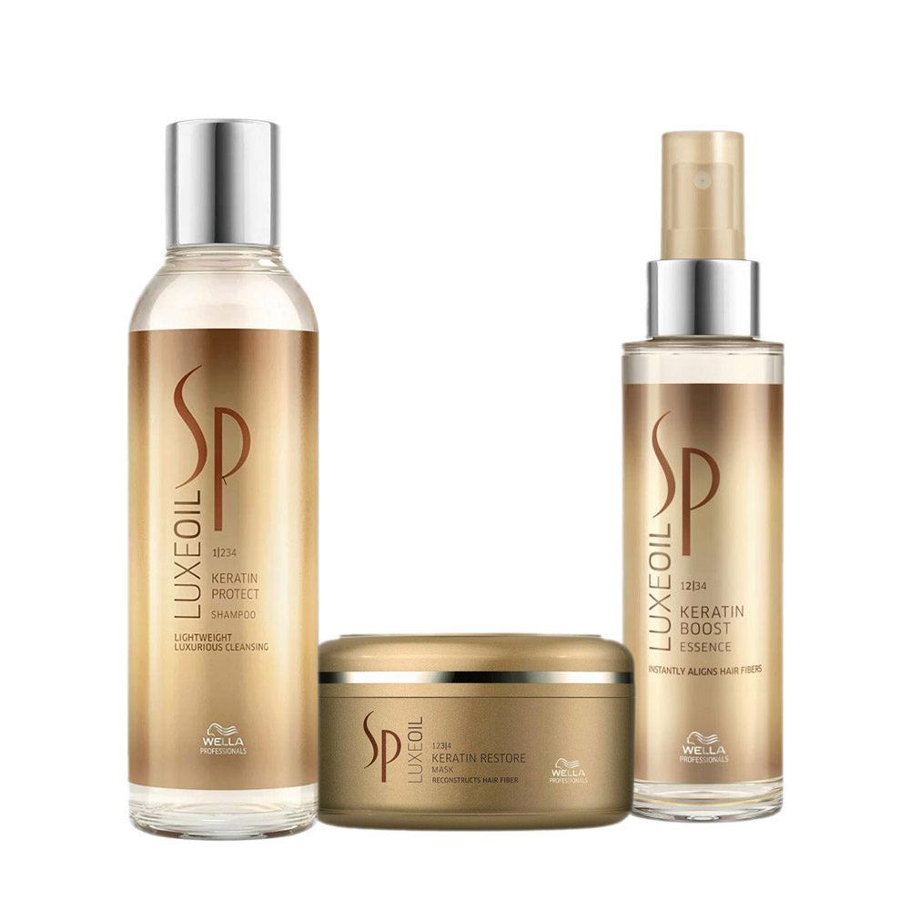 Wella SP Kit2 Luxe Oil Keratine protect shampoo 200ml   Keratin restore mask 150ml   Keratine boost essence 100ml