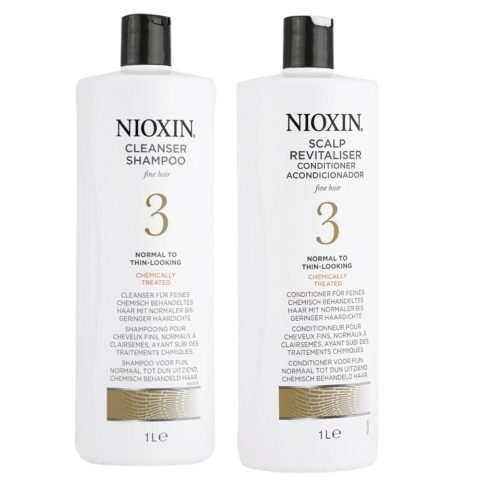 Nioxin Sistema3 Kit Shampoo Cleanser 1000ml e Conditioner 1000ml