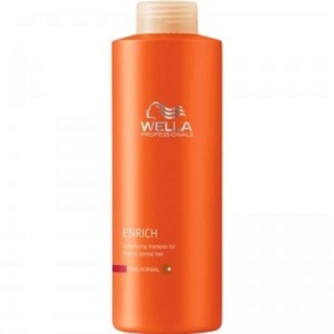 Wella Enrich Volumizing Shampoo 1000ml - shampooing cheveux fins/normaux