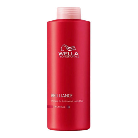 Wella Brilliance Shampoo 1000ml - shampooing cheveux fins/normaux