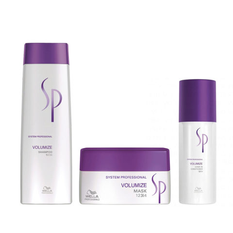 Wella SP Kit Volumize Shampoo 250 ml   Volumize Mask 200 ml   Volumize Leave-In Conditioner 150 ml