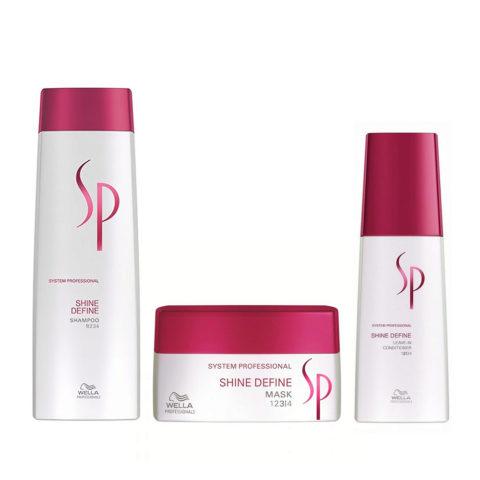 Wella SP Kit Shine Define Shampoo 250 ml   Shine Define Mask 200 ml   Shine Define Leave-In Conditioner 125 ml