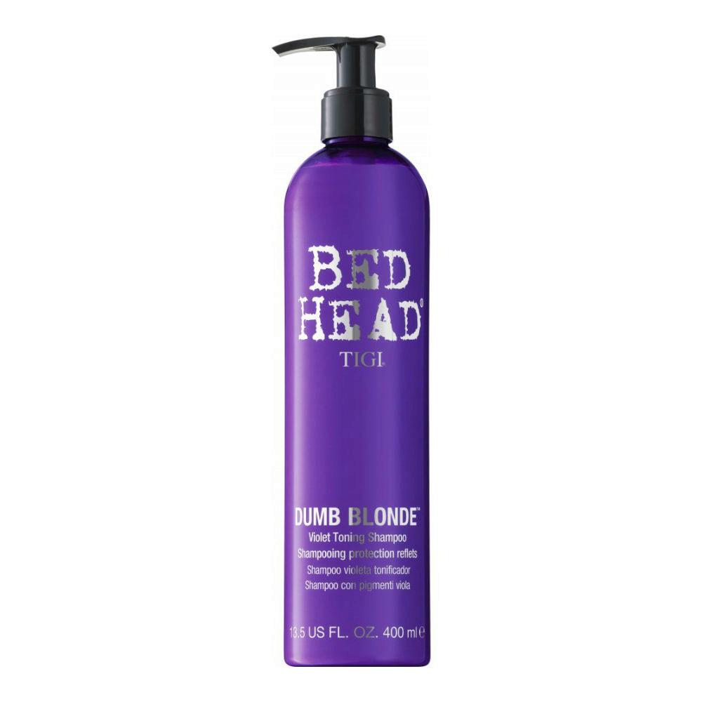 Tigi Bed Head Dumb Blonde Violet Toning Shampoo 400ml - shampooing blonds/gris