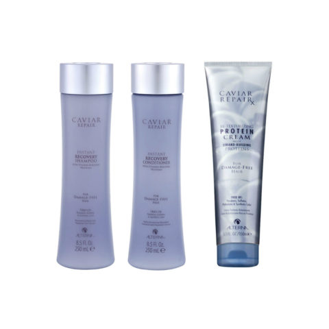 Alterna Caviar Repair Kit1 Instant recovery shampoo 250ml Conditioner 250ml ReTexturizing protein cream 150ml