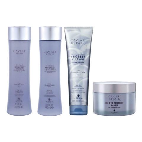 Alterna Caviar Repair Kit3 recovery shampoo 250ml Conditioner 250ml Protein cream 150ml Mask 161gr
