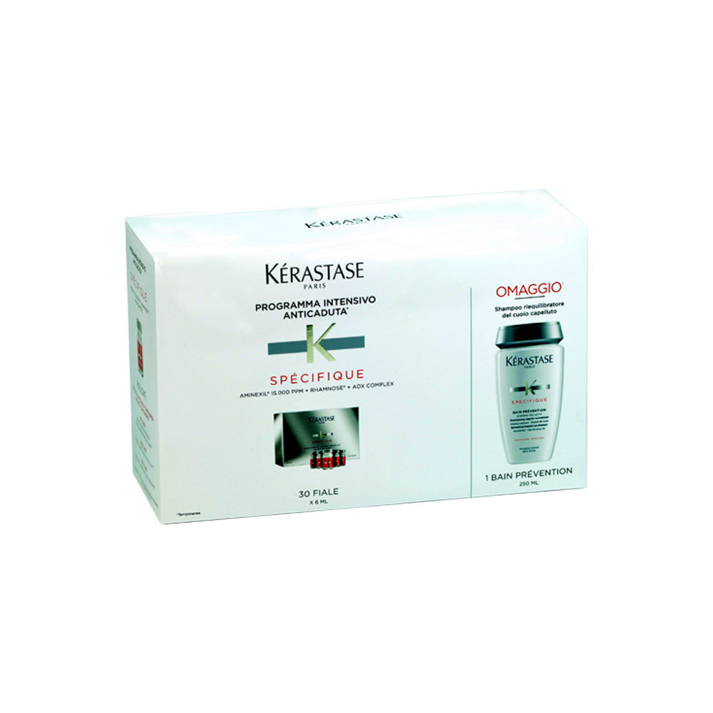 Kerastase Kit anti hairloss aminexil 30 vials and bain Prevention