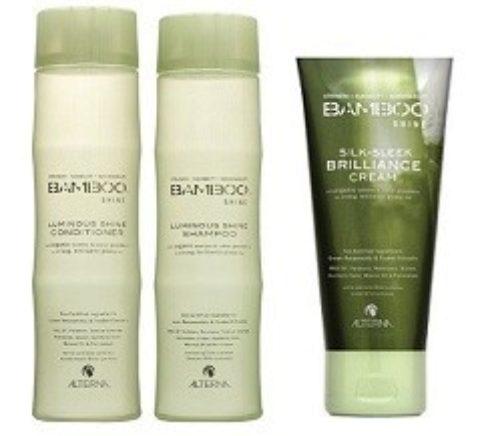Alterna Bamboo Shine Kit2 Shampoo 250ml Conditioner 250ml Silk sleek brilliance cream 125ml