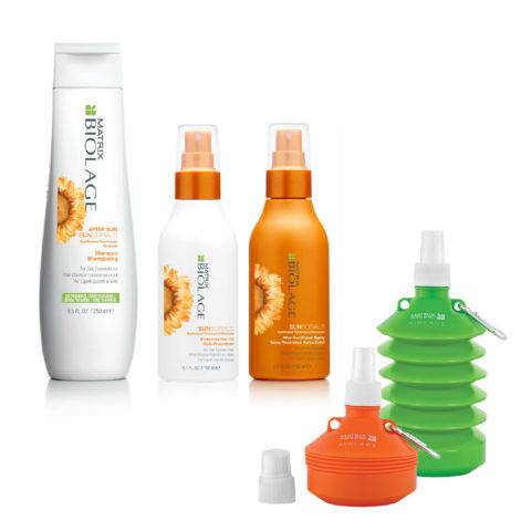 Matrix Biolage Sunsorials Kit Shampoo 250ml Oil 150ml Repair Spray 150ml   Water bottle cadeau