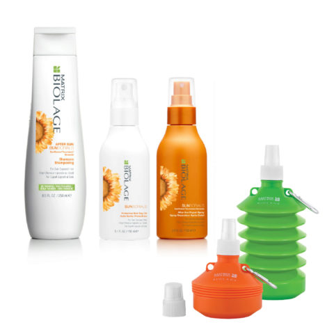Matrix Biolage Sunsorials Kit Shampoo 250ml Dry-oil 150ml Repair Spray 150ml   Water bottle cadeau