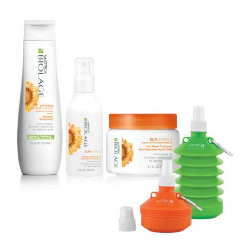 Matrix Biolage Sunsorials Kit Shampoo 250ml Treatment 150ml Dry-oil 150ml   Water bottle cadeau