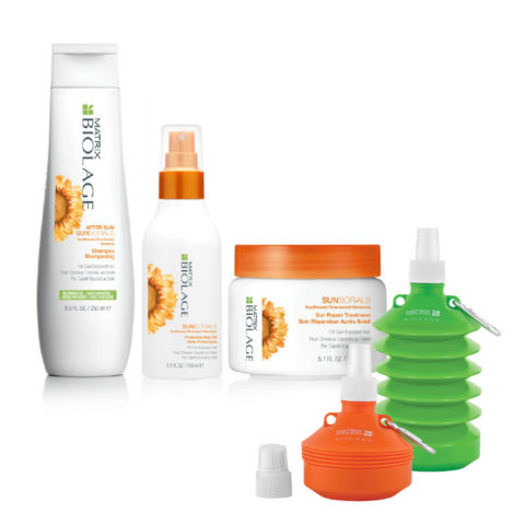 Matrix Biolage Sunsorials Kit Shampoo 250ml Treatment 150ml Oil 150ml   Water bottle cadeau