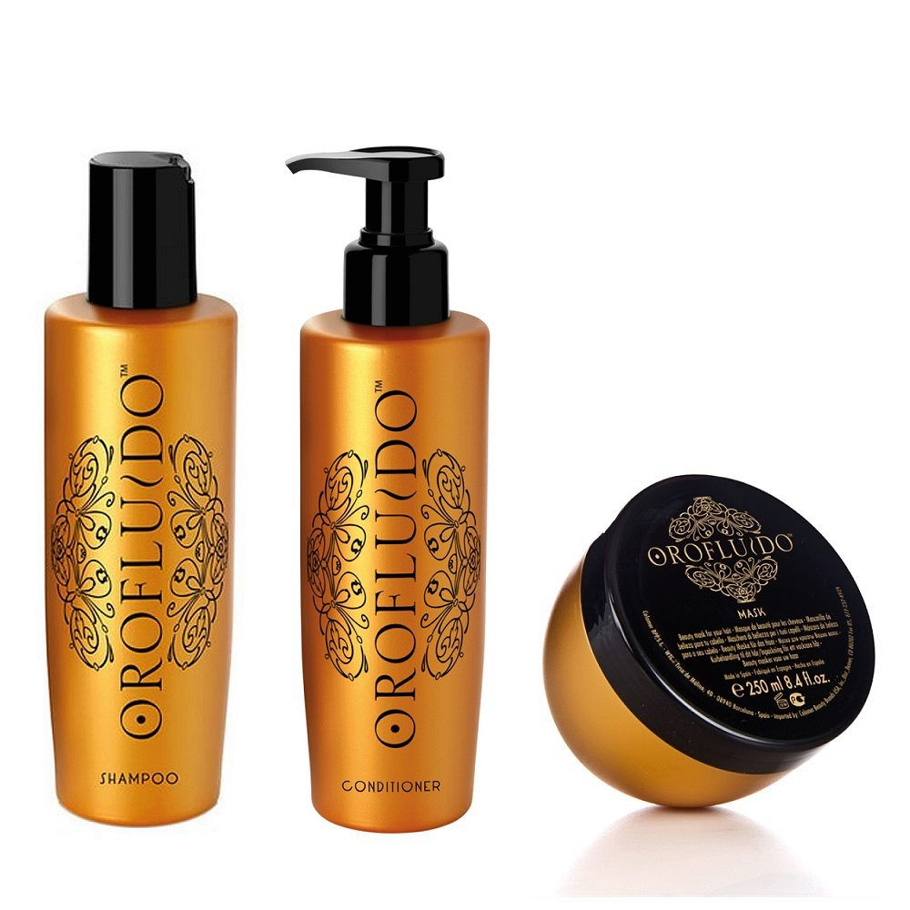 Orofluido Shampoo 200ml Conditioner 200ml  Mask 250ml - Shampooing Conditioner et Masque