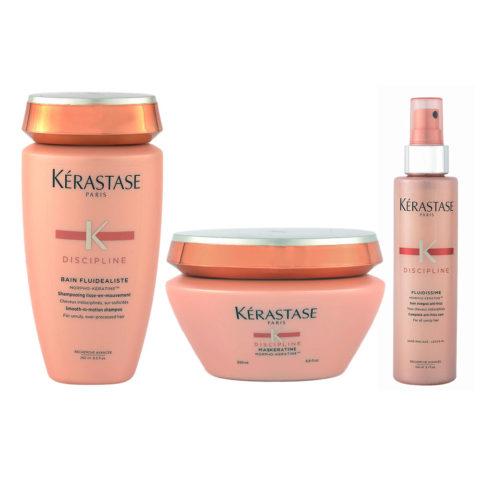 Kerastase Discipline Kit Bain cheveux très sensibilisés 250ml Maskeratine 200ml Fluidissime spray 150ml