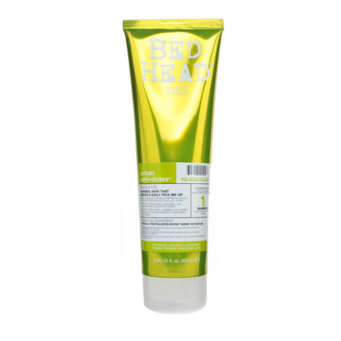 Tigi Urban Antidotes Re-Energize Shampoo 250ml - shampooing restructurant niveau 1