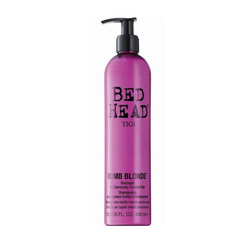 Tigi Bed Head Dumb Blonde Shampoo 400ml - shampooing cheveux traités blondes