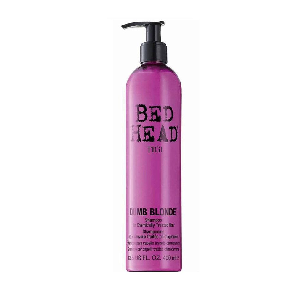 Tigi Bed Head Dumb Blonde Shampoo 400ml - shampooing cheveux traités blondes