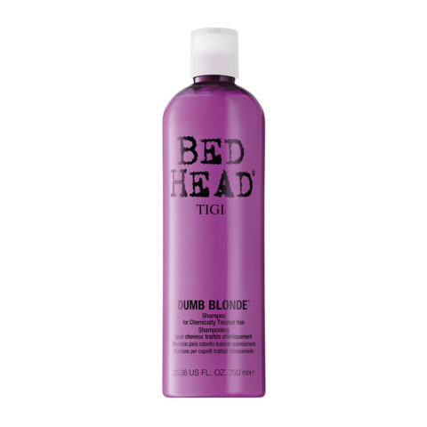 Tigi Bed Head Dumb Blonde Shampoo 750ml - shampooing cheveux traités blondes