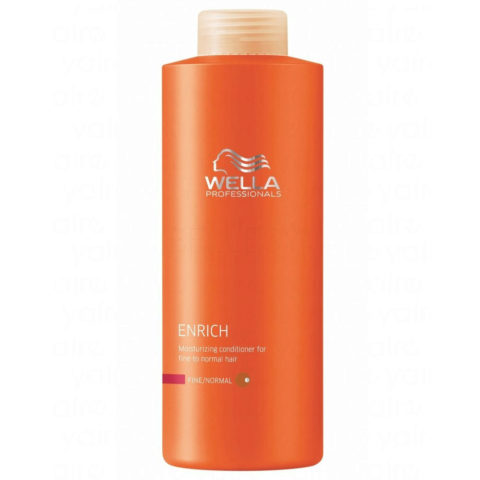 Wella Enrich Moisturizing Conditioner 1000ml - après-shampooing fins/normaux