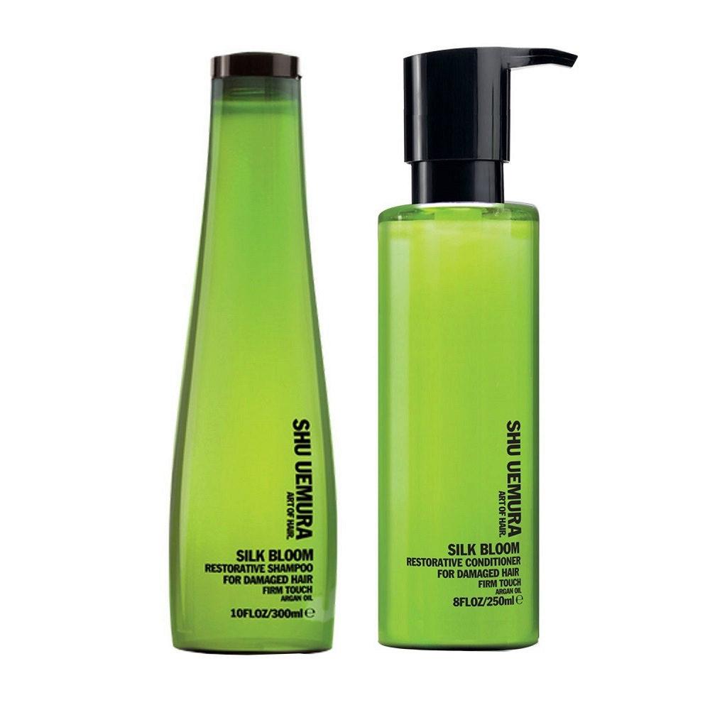 Shu Uemura Kit1 Silk Bloom Restorative Shampoo 300ml Conditioner 250ml