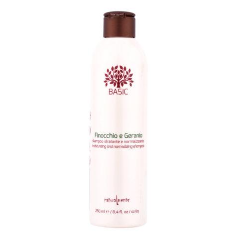 Naturalmente Basic Fennel geranium Shampoo Moisturizing and normalizing 250ml
