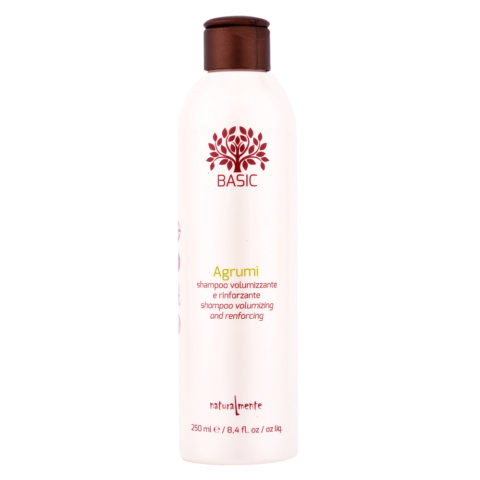Naturalmente Basic Citrus Shampoo Volumizing and renforcing 250ml - Aux Agrumes apporte du Volume et du Corps