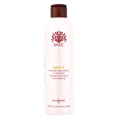 Naturalmente Basic Citrus Shampoo Volumizing and renforcing 250ml - Aux Agrumes apporte du Volume et du Corps