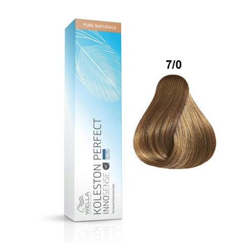 7/0 Medium blonde Wella Koleston Perfect innosense Pure naturals