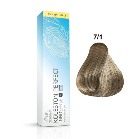 7/1 Blond moyen cendré Wella Koleston Perfect innosense Rich naturals 60ml