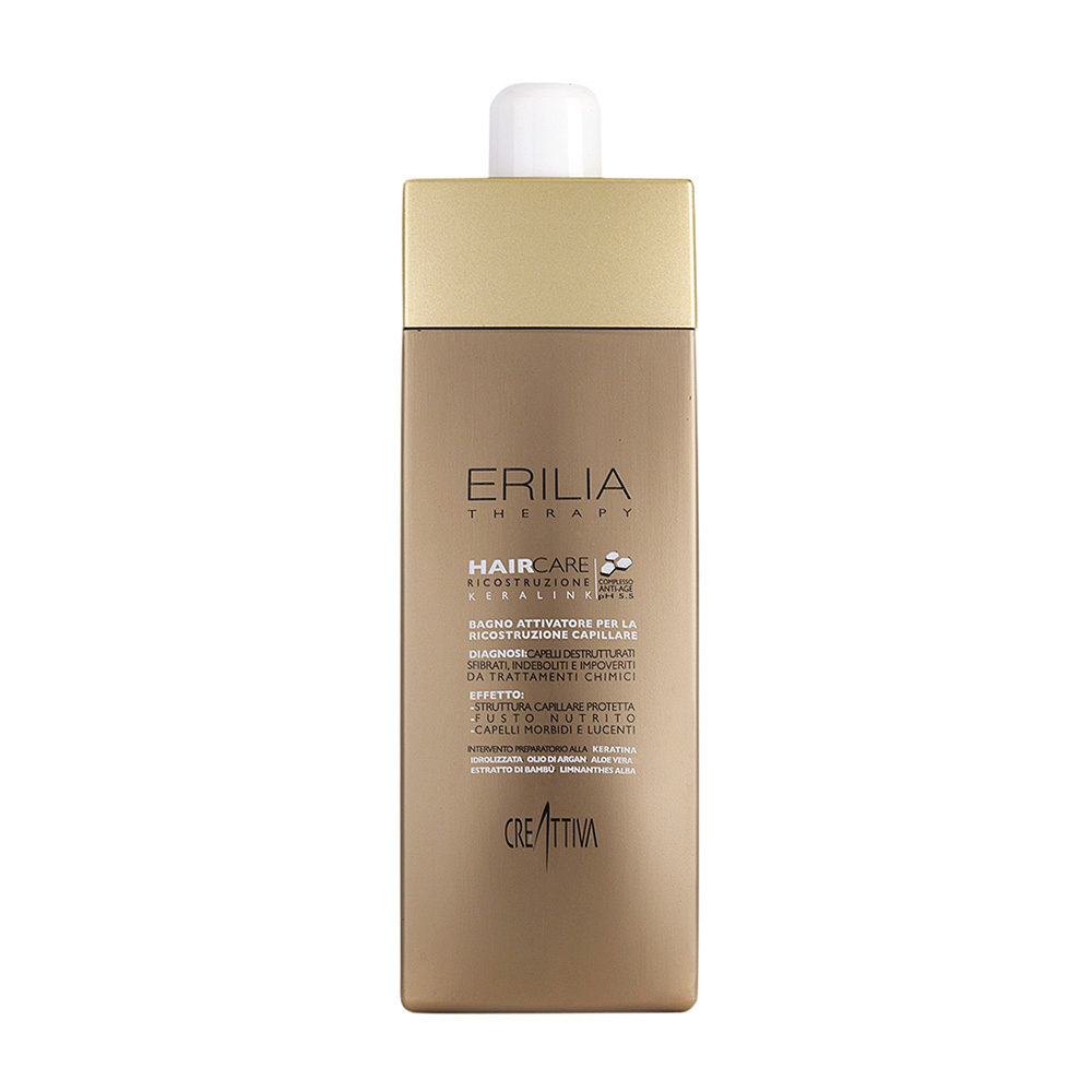 Erilia Haircare Keralink Bagno Attivatore Ricostruzione Capillare 750ml - shampooing pour cheveux abîmés