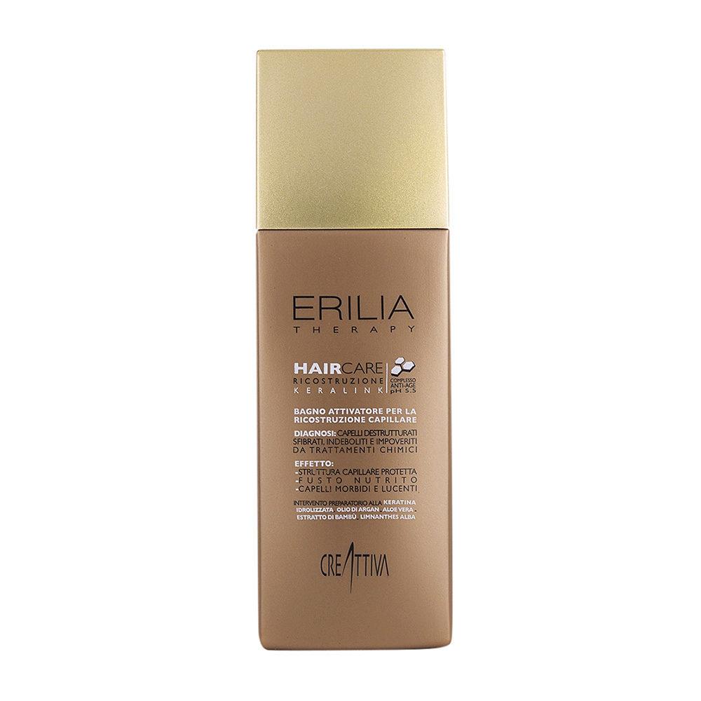 Erilia Haircare Keralink Bagno Attivatore Ricostruzione Capillare 250ml - shampooing peau et cheveux gras