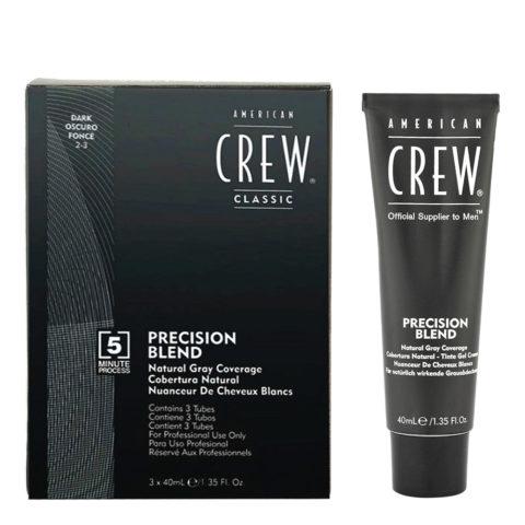 American Crew Classic Precision Blend 2-3 noir 3x40ml