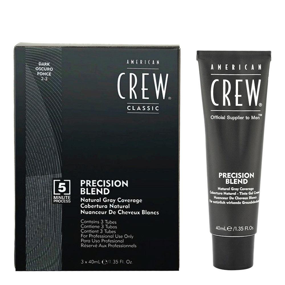 American Crew Classic Precision Blend 2-3 noir 3x40ml - coloration pour hommes