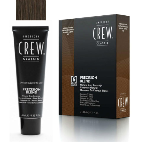 American Crew Classic Precision Blend 4-5 naturel moyen 3x40ml
