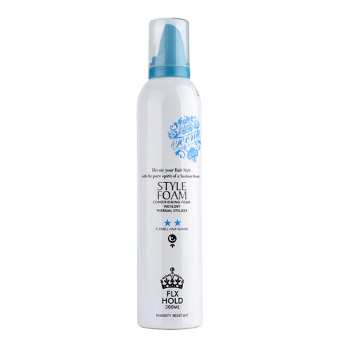 Tecna LMZ Stylish Style foam Blue conditioning foam 300ml - mousse qui donne du corps, volume et fixage