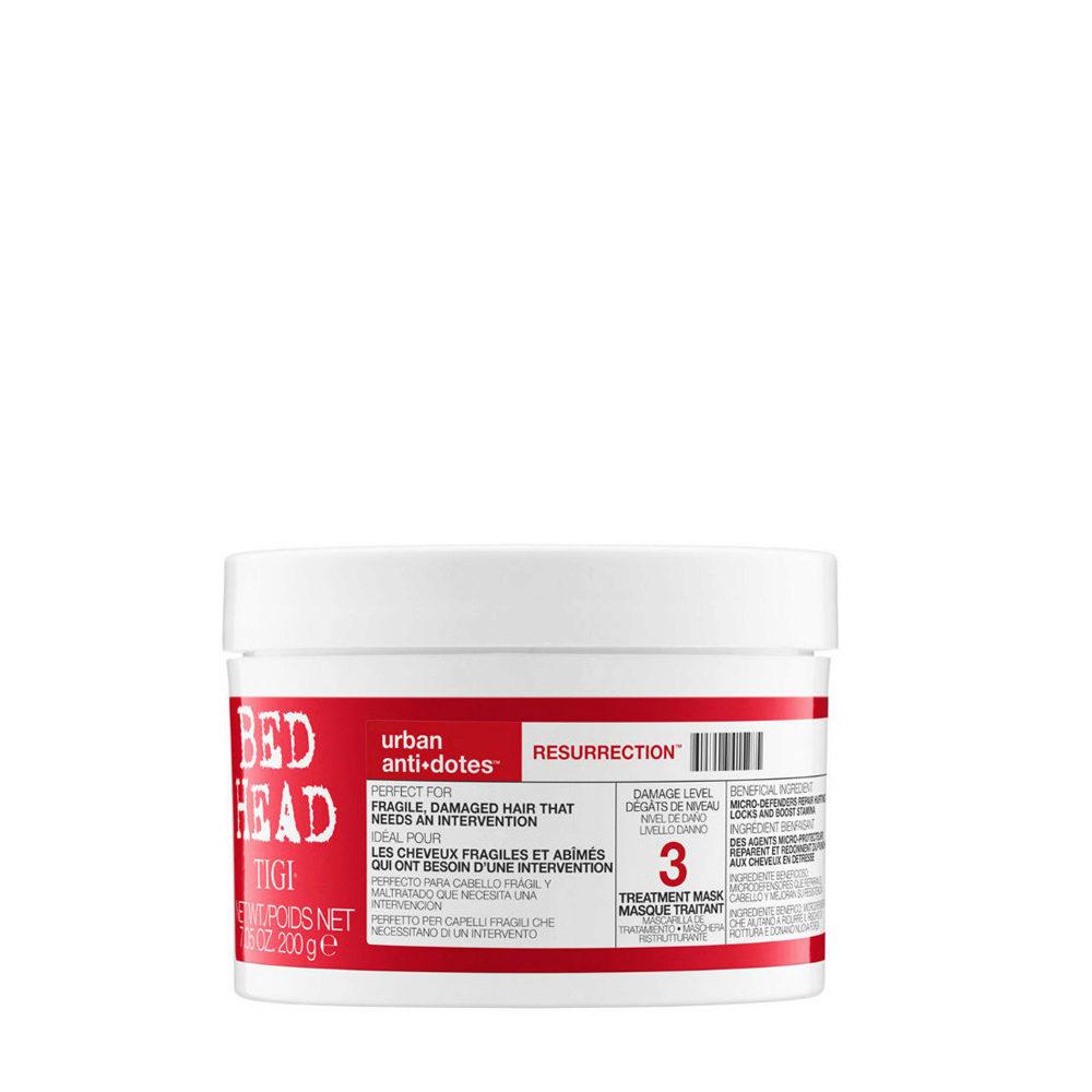 Tigi Urban Antidotes Resurrection treatment mask 200gr - masque restructurant niveau 3