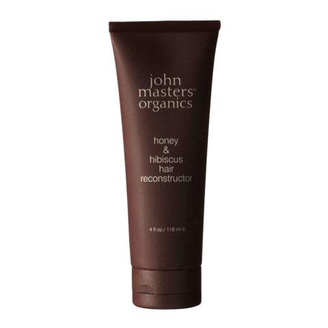John Masters Organics Honey & Hibiscus Hair Reconstructor 118ml Traitement régénérant ultra-hydratant