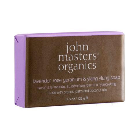 John Masters Organics Lavender, Rose Geranium & Ylang Ylang Soap 128gr - Savon