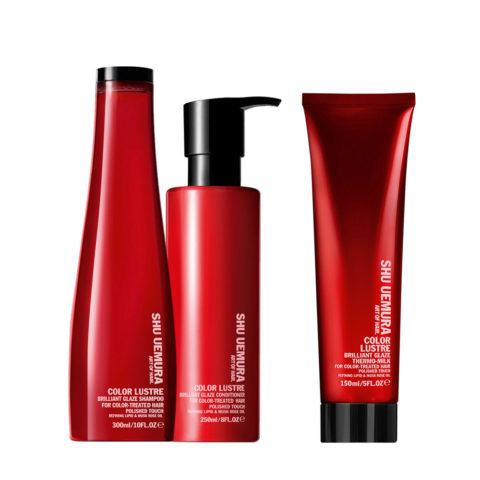 Shu Uemura Color lustre kit shampoo 300ml conditioner 250ml thermo-millk 150ml
