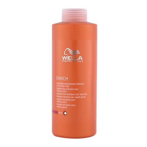 Wella Enrich Moisturizing Shampoo 1000ml - shampooing cheveux gros