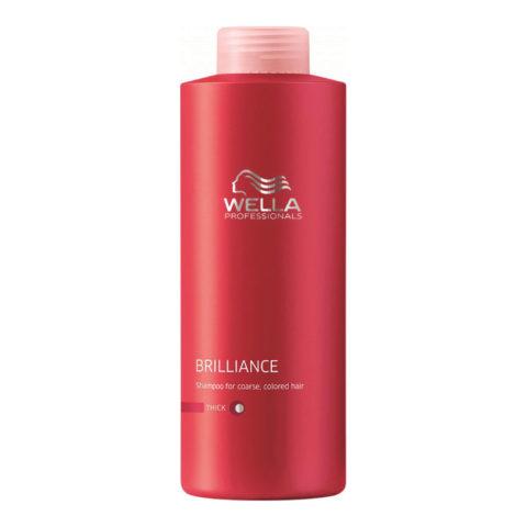 Wella Brilliance Shampoo 1000ml - shampooing cheveux gros