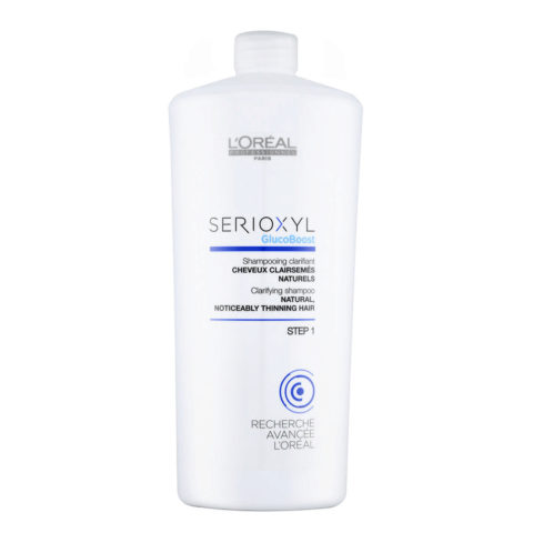 L'Oreal Serioxyl Clarifying shampoo cheveux naturels 1000ml