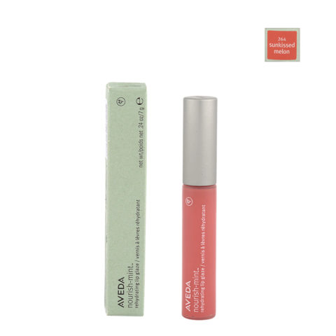 Aveda nourish-mint™ rehydrating lip glaze 264 sunkissed melon 7gr