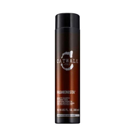 Tigi Catwalk Fashionista Brunette shampoo 300ml - shampooing pour des reflets chauds