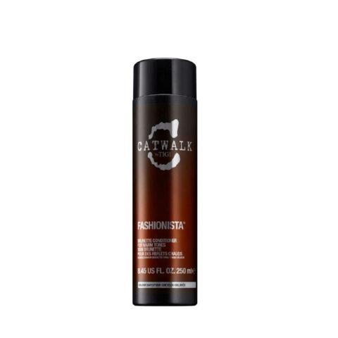 Tigi Catwalk Fashionista Brunette conditioner 250ml - après-shampooing pour des reflets chauds