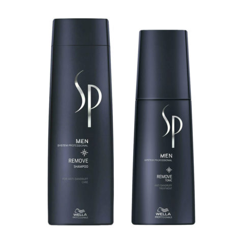 Wella System Professional Men Kit Remove Shampoo 250ml  Remove Tonic 125ml