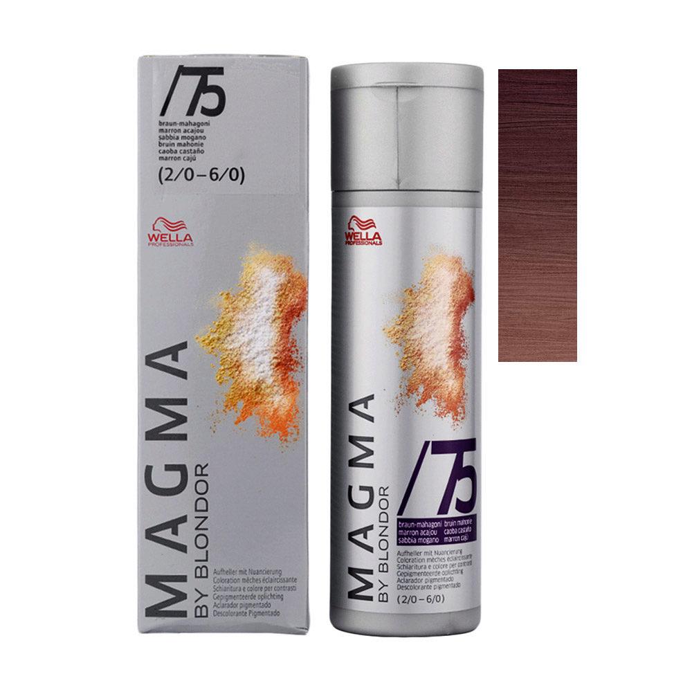/75 Chatain acajou Wella Magma 120gr