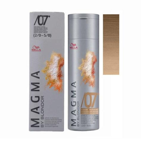/07 plus Chatain naturel intense Wella Magma 120gr